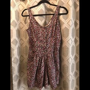 Floral romper with tie back
